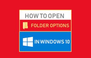 Cómo abrir las opciones de carpeta en Windows 10