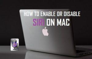 Cómo activar o desactivar Siri en Mac