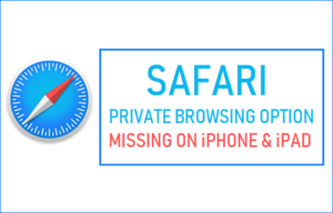 Falta la opción de navegación privada de Safari en iPhone o iPad