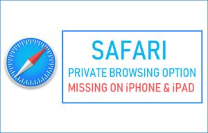 Falta la opción de navegación privada de Safari en iPhone o iPad