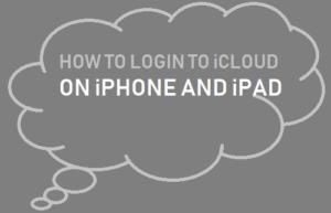 Cómo iniciar sesión en iCloud en iPhone o iPad