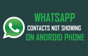 Los contactos de WhatsApp no se muestran en el teléfono Android