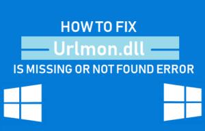 Cómo corregir un error de Urlmon.dll falta o no se encuentra