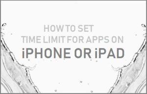 Cómo establecer el límite de tiempo para las aplicaciones en iPhone o iPad
