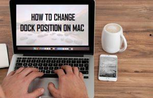 Cómo cambiar la posición del muelle en Mac