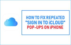 Cómo corregir los pop-ups repetidos de «Iniciar sesión en iCloud» en el iPhone