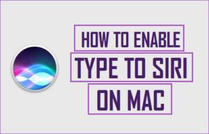 Cómo habilitar y usar el teclado para Siri en Mac