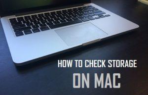 Cómo comprobar el almacenamiento en Mac
