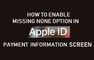 Cómo habilitar la opción «No falta ninguno» en la pantalla de información de pago de ID de Apple