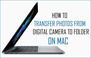 Cómo transferir fotos de la cámara digital a la carpeta en el Mac