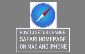 Cómo configurar o cambiar la página principal de Safari en Mac e iPhone