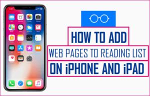 Cómo añadir páginas web a la lista de lectura en iPhone y iPad