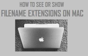 Cómo ver o mostrar extensiones de nombres de archivos en Mac