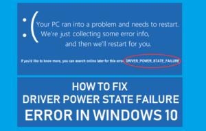 Cómo corregir un error de estado de alimentación del controlador en Windows 10