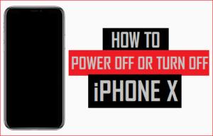 Cómo apagar o apagar el iPhone X