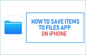 Cómo Guardar Artículos en Archivos Aplicación en iPhone