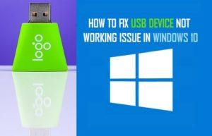 Corrección: El dispositivo USB no funciona en Windows 10