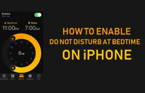Cómo activar No molestar a la hora de acostarse en el iPhone