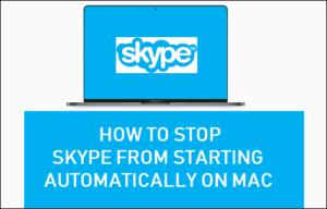Cómo evitar que Skype comience automáticamente en Mac