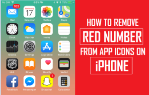Cómo quitar el número rojo de los iconos de la aplicación en el iPhone