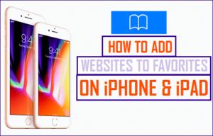 Cómo agregar sitios web a favoritos en iPhone y iPad