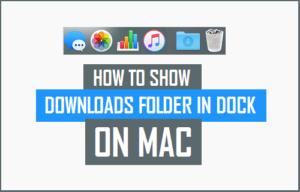 Cómo restaurar la carpeta de descargas que falta en Mac