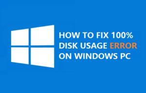 Cómo arreglar el 100% de uso de disco en Windows 10