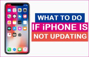 Qué hacer si el iPhone no se actualiza