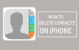 Cómo borrar contactos desde el iPhone