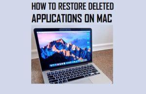 Cómo restaurar aplicaciones eliminadas en Mac
