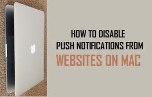 Cómo deshabilitar las notificaciones push de sitios web en Mac