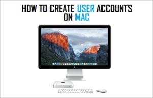 Cómo crear cuentas de usuario en Mac