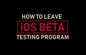 Cómo salir del programa de pruebas beta de iOS