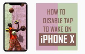 Cómo desactivar Puntee Para despertar en el iPhone X