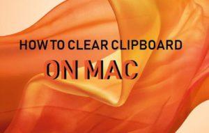 Cómo borrar el portapapeles en Mac