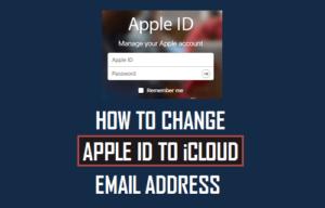 Cómo cambiar el ID de Apple por una dirección de correo electrónico iCloud