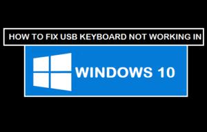 Cómo corregir el teclado USB que no funciona en Windows 10