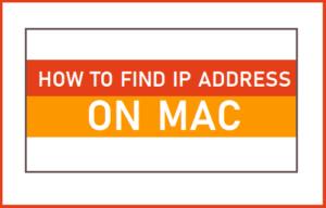 Cómo encontrar la dirección IP en Mac