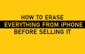 Cómo borrar todo del iPhone antes de venderlo