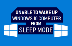 No se puede despertar el equipo con Windows 10 desde el modo de reposo