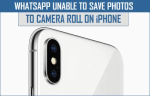 WhatsApp No se puede guardar fotos en la cámara Rollo de la cámara en el iPhone