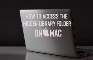 Cómo acceder a la carpeta de la biblioteca oculta en Mac