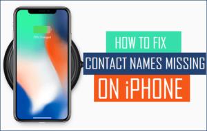 Cómo corregir los nombres de contacto que faltan en el iPhone