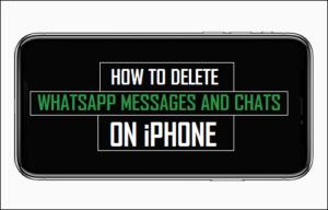 Cómo eliminar mensajes de WhatsApp en el iPhone