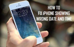 Cómo corregir el iPhone mostrando fecha y hora incorrectas