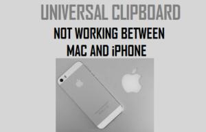El portapapeles universal no funciona entre Mac e iPhone