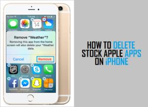 Cómo eliminar aplicaciones de stock en iPhone o iPad