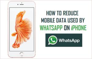 Cómo reducir los datos móviles utilizados por WhatsApp en el iPhone