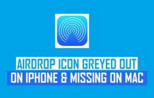 El icono de AirDrop aparece en gris en el iPhone y desaparece en el Mac