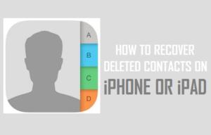 Cómo recuperar los contactos borrados en el iPhone o iPad
